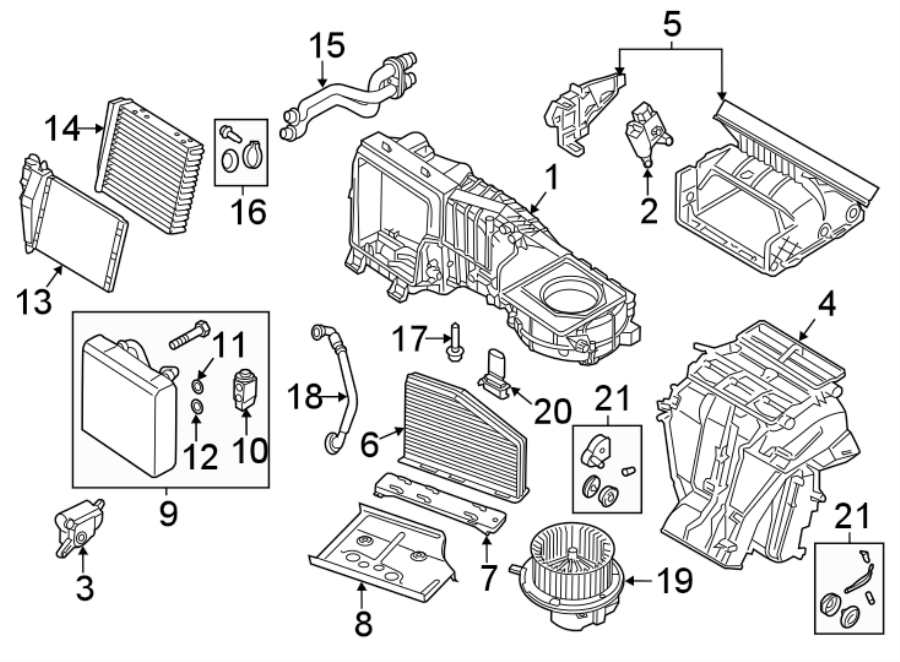 Volkswagen Beetle Air  Housing  Box  Conditioning  A  C  Evaporator Core Case  Distribution