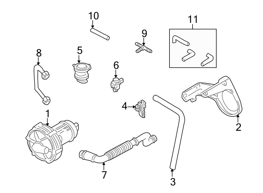 Volkswagen Cabrio Secondary Air Injection Pump Hose Clip