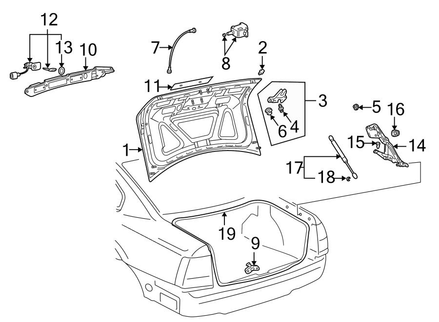 Volkswagen Passat Wagon Lock  Latch  Trunk  Actuator Motor