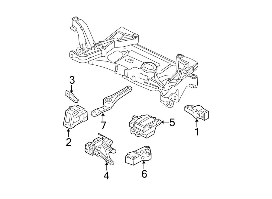 Volkswagen Passat Wagon Mount  Transmission