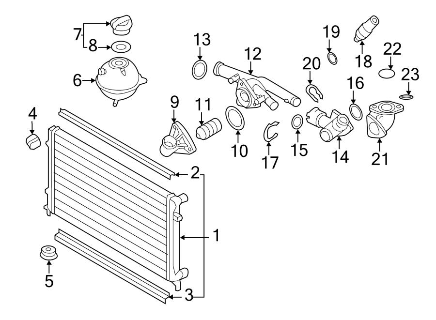 Volkswagen Cc Radiator Air Seal  Upper  Lower   Liter