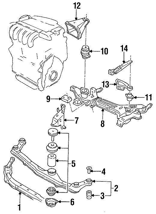 Volkswagen Jetta Manual Transmission Mount Bracket  2 0