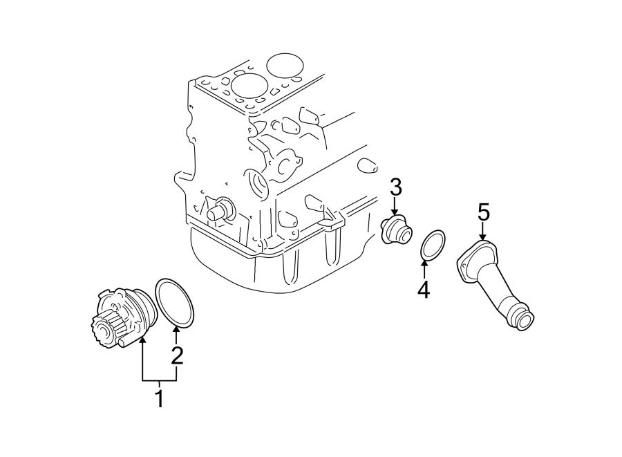 Volkswagen Golf Engine Coolant Thermostat  Audi  Volkswagen