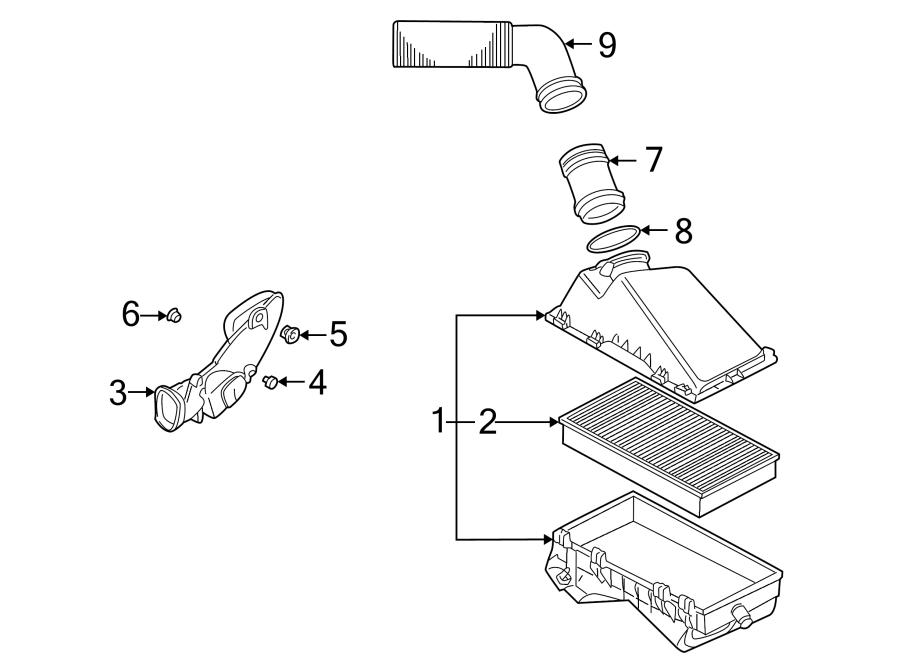 2000 volkswagen jetta gl 2 0l a  t mass air flow sensor  air meter  mass air flow sensor