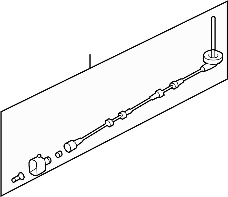 volkswagen passat abs wheel speed sensor wiring harness  w  o awd  286x12mm  w  o awd