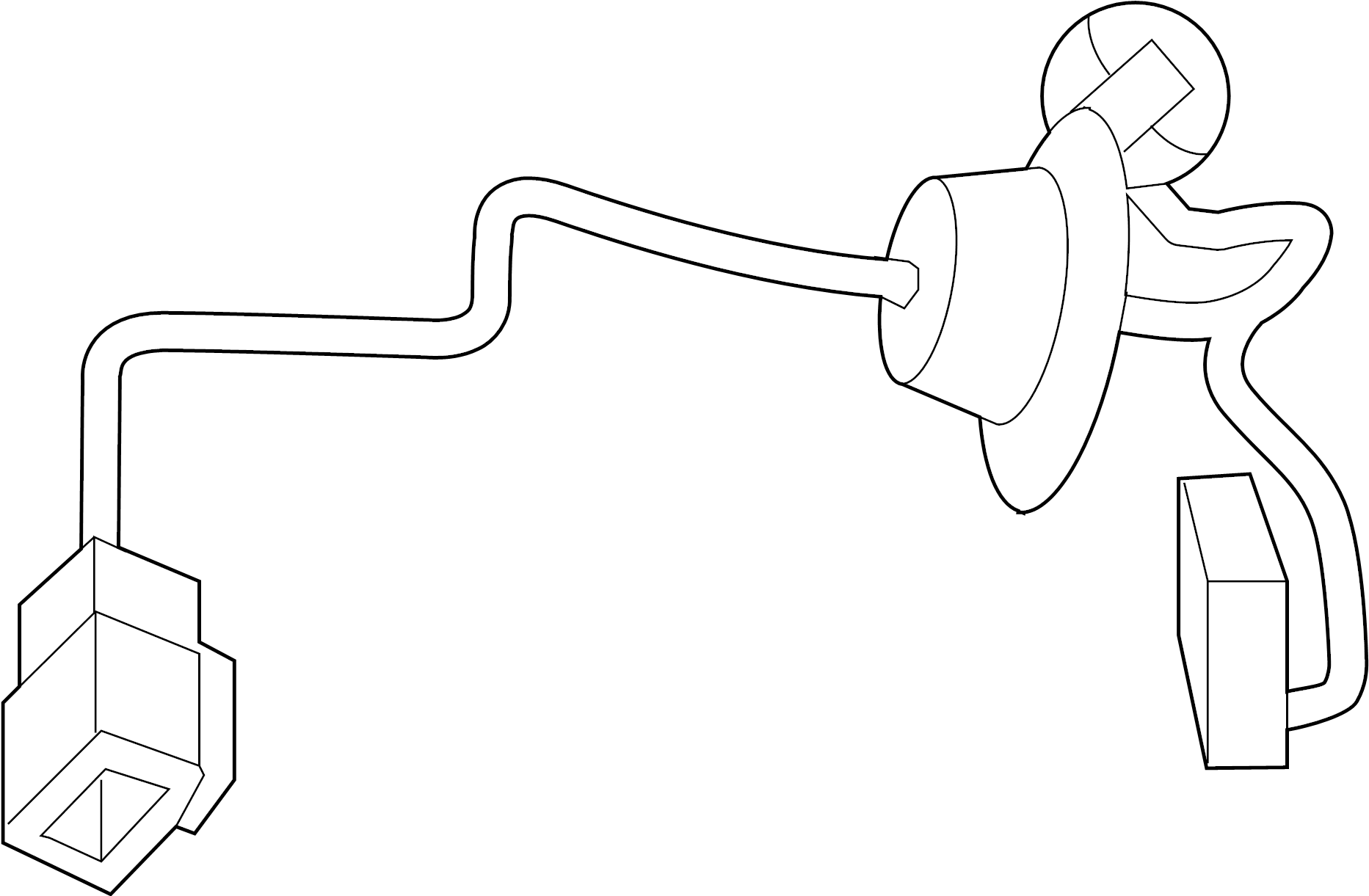 Volkswagen Routan License Plate Light Socket  W  Camera
